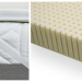 A soft latex mattress topper for a too firm Simmons Beautyrest Black Calista Mattress.