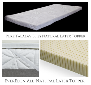 100 all natural talalay and dunlop latex mattress toppers