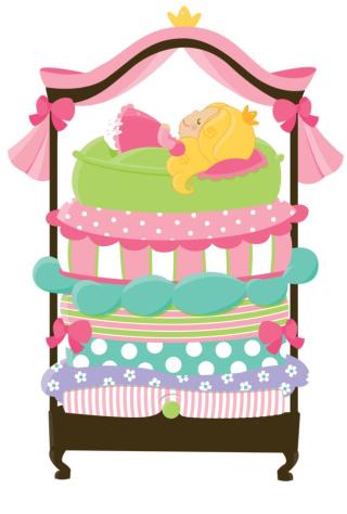 Princess Bed clip Art
