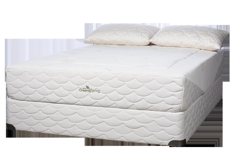 Liberta-mattress-on-a-10in-Organic-foundation-with-Organic-pillows-1
