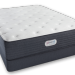 Simmons Beautyrest Platinum Mattress and Plush Talalay Latex Topper.