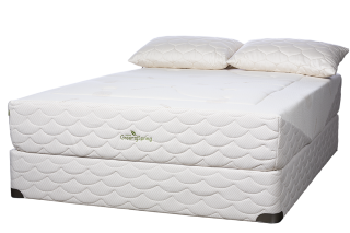 Liberta-mattress-on-a-10in-Organic-foundation-with-Organic-pillows-1