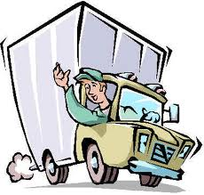 Delivery truck cartoon